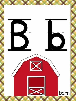 Alphabet Poster (farm theme)
