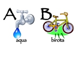 Alphabet Poster for Latin
