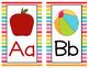Alphabet Posters - Rainbow Stripe Classroom Theme