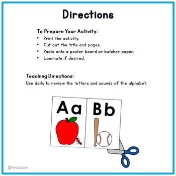 Alphabet Poster with Picture Mnemonics Phonics