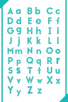Alphabet Poster with tracing guides