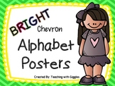 Bright Chevron Alphabet Posters