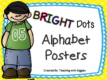 Bright Dots Alphabet Posters
