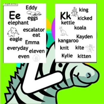 A-Z Alphabet Posters for classroom
