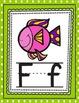 Alphabet Posters- Aqua and Green Polka Dots