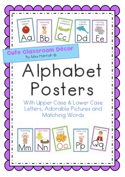 Alphabet Posters with Words