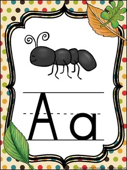 Alphabet Posters Camping Theme