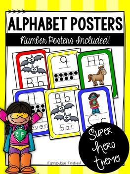 Super Hero Alphabet Posters