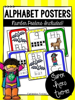 Super Hero Alphabet Posters