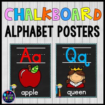 Chalkboard-Themed Alphabet Posters