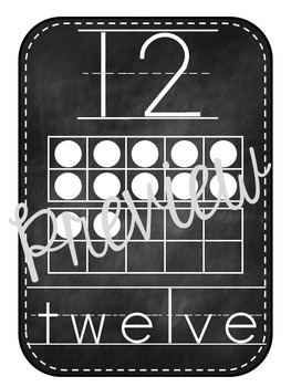 Alphabet Posters for the Classroom Chalkboard Theme