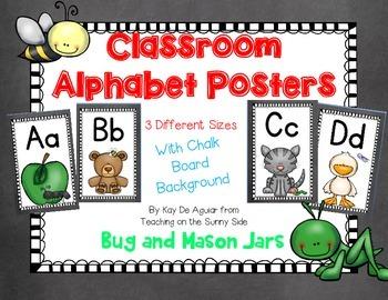 Alphabet Posters - Chalk Board