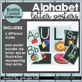 Rustic Coastal Farmhouse Alphabet Posters