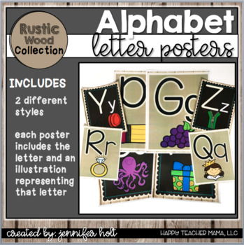 Alphabet Posters-2 Styles {Rustic Wood}