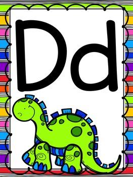 Bright, Rainbow Alphabet Posters