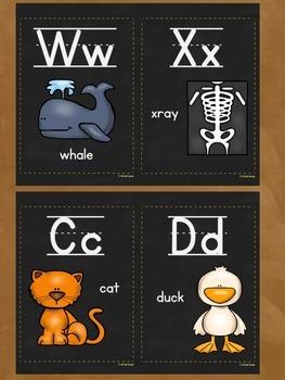 Alphabet Posters (chalkboard version)