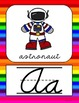 Alphabet Posters - Bright Rainbow Theme
