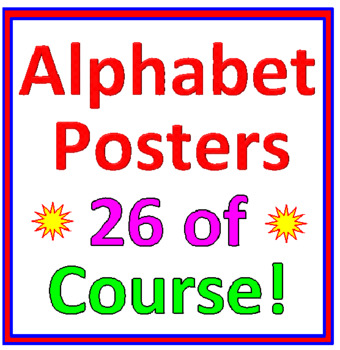 Alphabet Posters (26 Posters)