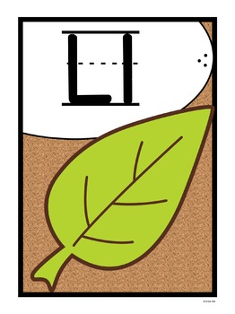 Alphabet Posters - Cork Board Basics