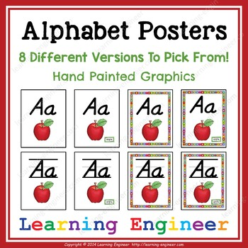 Alphabet Posters with Pictures (2nd Grade Bulletin Board) 3rd Grade Bulletin Boa