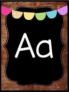 WOOD THEME  Alphabet Posters (3 Choices)