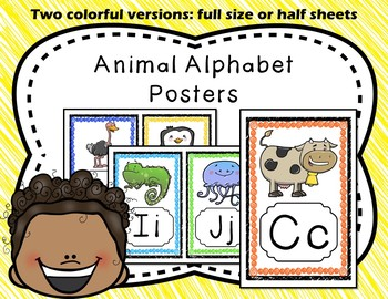 Alphabet Posters - A-Z Animal Theme | ABC