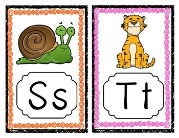 Alphabet Posters - A-Z Animal Theme | ABC