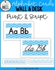 ABC Wall and Desk Cards (Serenity Series)
