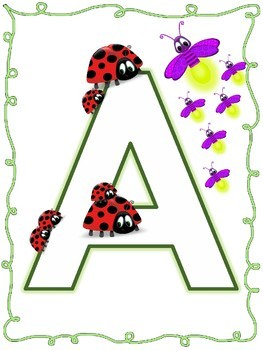 Uppercase Alphabet Posters for Classroom Decor