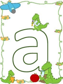 Lowercase Alphabet Posters for Classroom Decor