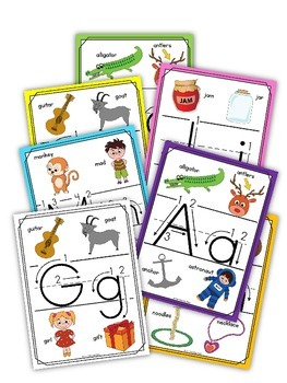 Alphabet Posters (4 pictures for each letter)