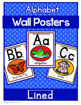 Alphabet Posters - A-Z Animals Lined