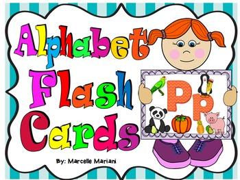 Alphabet Posters, A-Z Posters, Alphabet Large Flash Cards