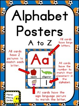 Alphabet Posters A-to-Z ~ Sports Theme