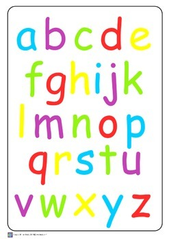 Alphabet Posters A3 Size