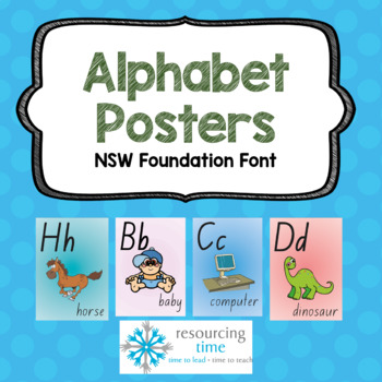Alphabet poster nsw foundation font teaching resources teachers alphabet posters a4 nsw foundation font fandeluxe Choice Image