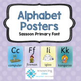 Alphabet Posters A4 (Sassoon Primary Font) #2sale