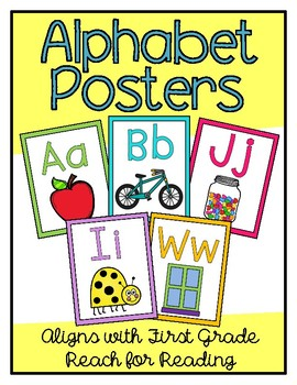 Alphabet Posters (Aligns with First Grade Reach for Reading)