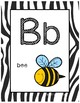 Alphabet Posters - Animal Print Background - With Picture Clues