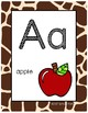 #roomdecor Classroom Decor Alphabet Posters - Animal Print - With Picture Clues
