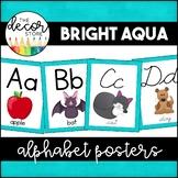 Alphabet Posters: Aqua   Classroom Decor