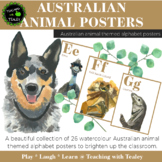 Alphabet Posters - Australian Animal Themed
