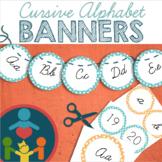 Alphabet Posters /  Banners : Cursive