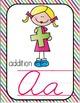 Cursive Alphabet Posters-Based on Math Vocabulary