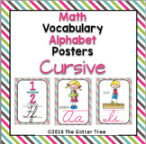Cursive Alphabet Posters-Based on Math Vocabulary