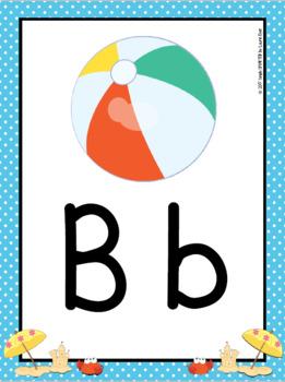 Alphabet Posters:  Beach Theme