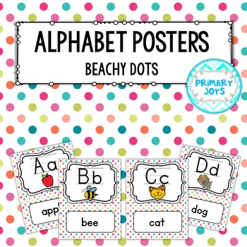 Alphabet Posters {Beachy Dots}