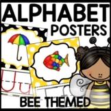 Bee Themed Alphabet Posters Classroom Decor