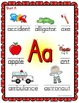 Alphabet Posters - LARGE - Colorful Shapes