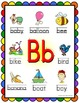 Alphabet Posters - Beginning Sounds  (Rainbow Scallop Frame)